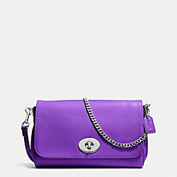 MINI RUBY CROSSBODY IN LEATHER - f34604 - SILVER/PURPLE IRIS