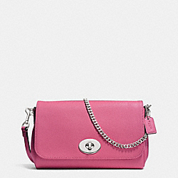COACH MINI RUBY CROSSBODY IN LEATHER - SILVER/SUNSET RED - F34604