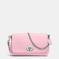 COACH MINI RUBY CROSSBODY IN LEATHER - SILVER/PETAL - F34604