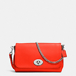 COACH MINI RUBY CROSSBODY IN LEATHER - SILVER/ORANGE - F34604