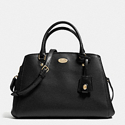 COACH SMALL MARGOT CARRYALL IN LEATHER - LIGHT GOLD/BLACK - F34607