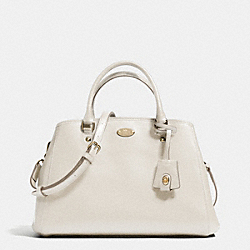 SMALL MARGOT CARRYALL IN LEATHER - LIGHT GOLD/CHALK - COACH F34607
