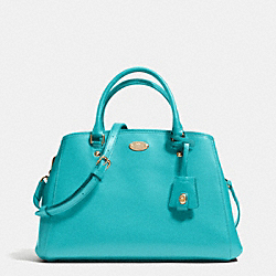 SMALL MARGOT CARRYALL IN LEATHER - LIGHT GOLD/CADET BLUE - COACH F34607