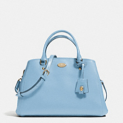 COACH SMALL MARGOT CARRYALL IN CROSSGRAIN LEATHER - LIGHT GOLD/PALE BLUE - F34607