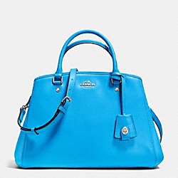 SMALL MARGOT CARRYALL IN LEATHER - f34607 - SILVER/AZURE
