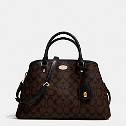 COACH SMALL MARGOT CARRYALL IN SIGNATURE CANVAS - LIGHT GOLD/BROWN/BLACK - F34608