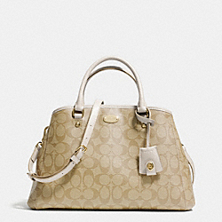 COACH SMALL MARGOT CARRYALL IN SIGNATURE COATED CANVAS - LIGHT GOLD/LIGHT KHAKI/CHALK - F34608