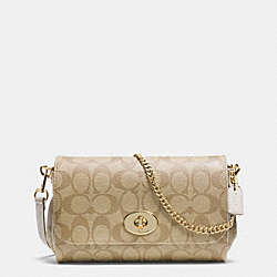 COACH MINI RUBY CROSSBODY IN SIGNATURE CANVAS - LIGHT GOLD/LIGHT KHAKI/CHALK - F34615