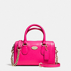 BABY BENNETT SATCHEL IN CROSSGRAIN LEATHER - f34641 -  LIGHT GOLD/PINK RUBY