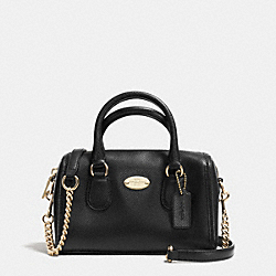 BABY BENNETT SATCHEL IN CROSSGRAIN LEATHER - LIGHT GOLD/BLACK - COACH F34641
