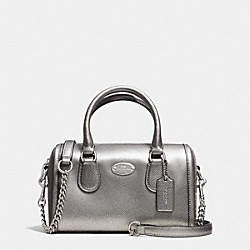 COACH BABY BENNETT SATCHEL IN CROSSGRAIN LEATHER - SILVER/PEWTER - F34641