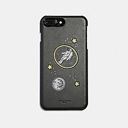 IPHONE 8 PLUS CASE WITH GLOW IN THE DARK PATCH - BLACK/MULTICOLOR - COACH F34716