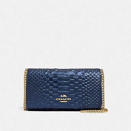 COACH DRESSY CROSSBODY - METALLIC DENIM/LIGHT GOLD - F34720