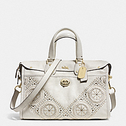 COACH MINI STUDS RHYDER SATCHEL IN LEATHER - LIGHT GOLD/CHALK - F34756