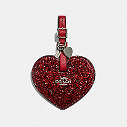 HEART LUGGAGE TAG - RED/SILVER - COACH F34769