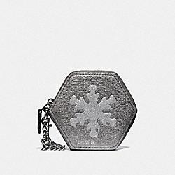 SNOWFLAKE COIN CASE - BLACK/MULTI/SILVER - COACH F34770