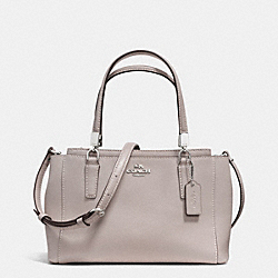 MINI CHRISTIE CROSSBODY IN LEATHER - f34797 - SILVER/GREY BIRCH