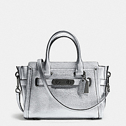 COACH SWAGGER  27 IN PEBBLE LEATHER - DARK GUNMETAL/SILVER - COACH F34816