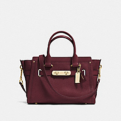 COACH COACH SWAGGER 27 - BURGUNDY/LIGHT GOLD - F34816