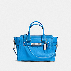 COACH SWAGGER  27 IN PEBBLE LEATHER - SILVER/AZURE - COACH F34816