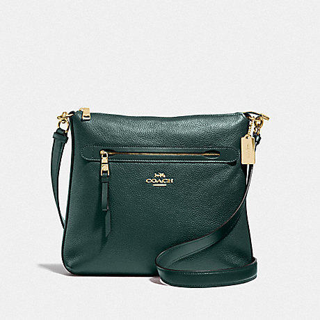 COACH MAE FILE CROSSBODY - IM/EVERGREEN - F34823