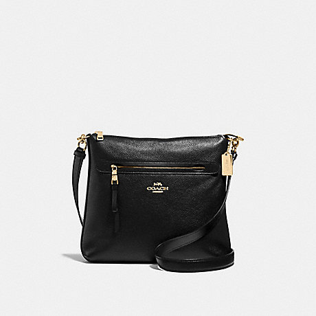 COACH MAE CROSSBODY - BLACK/LIGHT GOLD - F34823