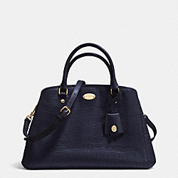 COACH SMALL MARGOT CARRYALL IN EMBOSSED CROCO LEATHER - LIGHT GOLD/MIDNIGHT - F34854