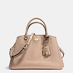 COACH SMALL MARGOT CARRYALL IN EMBOSSED CROCO LEATHER - LIGHT GOLD/NUDE - F34854