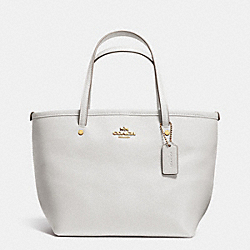 COACH CROSSGRAIN MINI STREET TOTE - LIGHT GOLD/CHALK - F34871