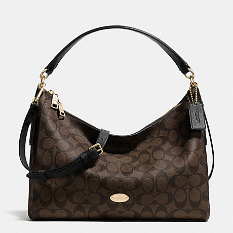 COACH EAST/WEST CELESTE CONVERTIBLE HOBO IN SIGNATURE - LIGHT GOLD/BROWN/BLACK - f34899