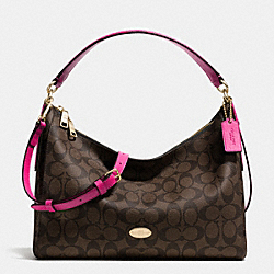 COACH EAST/WEST CELESTE CONVERTIBLE HOBO IN SIGNATURE - IME9T - F34899