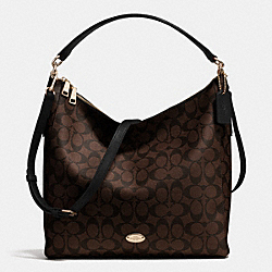 COACH CELESTE CONVERTIBLE HOBO IN SIGNATURE CANVAS - LIGHT GOLD/BROWN/BLACK - F34910