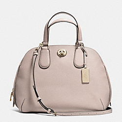 PRINCE STREET SATCHEL IN CROSSGRAIN LEATHER - f34939 - LIGHT GOLD/GREY BIRCH
