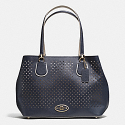 COACH KITT CARRYALL IN PERFORATED LEATHER - LIBGE - F34970