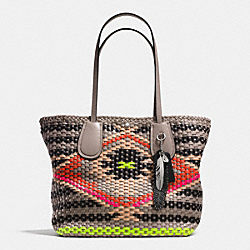 COACH COACH TAXI TOTE IN WOVEN LEATHER - SVE2M - F35011