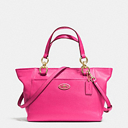 MINI ELLIS TOTE IN PEBBLE LEATHER - f35030 - LIGHT GOLD/PINK RUBY