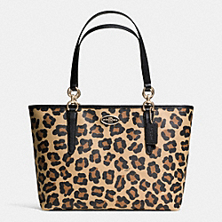COACH ELLIS TOTE IN OCELOT PRINT COATED CANVAS - LIGHT GOLD/TAN - F35032