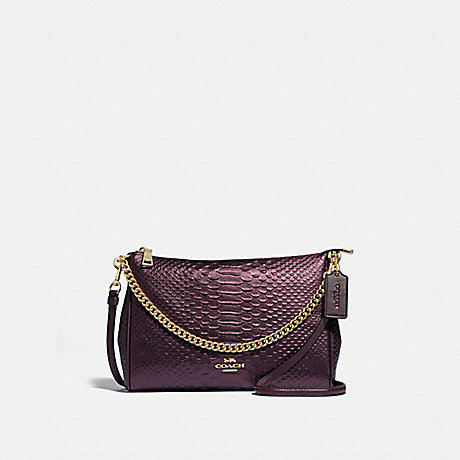 COACH CARRIE CROSSBODY - OXBLOOD 1/LIGHT GOLD - F35059