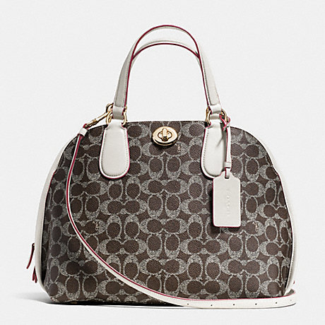 COACH f35091 PRINCE STREET SATCHEL IN SIGNATURE LIDRY