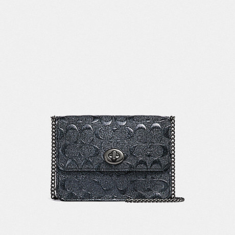 COACH BOWERY CROSSBODY IN SIGNATURE LEATHER - CHARCOAL/BLACK ANTIQUE NICKEL - F35121