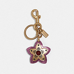 WILDFLOWER BAG CHARM - GD/ROSE - COACH F35132