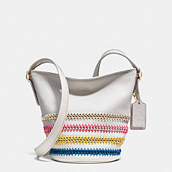 MINI DUFFLE IN POP LACING WHIPLASH LEATHER - LICAH - COACH F35153
