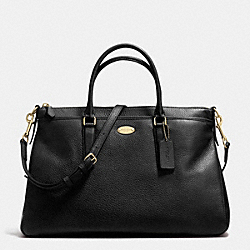 COACH MORGAN SATCHEL IN PEBBLE LEATHER - LIGHT GOLD/BLACK - F35185