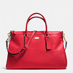 COACH MORGAN SATCHEL IN PEBBLE LEATHER - IMITATION GOLD/CLASSIC RED - F35185