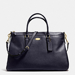 COACH MORGAN SATCHEL IN PEBBLE LEATHER - LIGHT GOLD/MIDNIGHT - F35185
