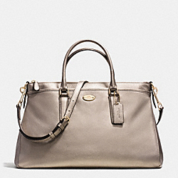 COACH MORGAN SATCHEL IN PEBBLE LEATHER - LIGHT GOLD/METALLIC - F35185