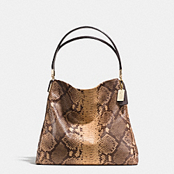 COACH PHOEBE SHOULDER BAG IN SNAKESKIN EMBOSSED LEATHER - LIGHT GOLD/NATURAL - F35209