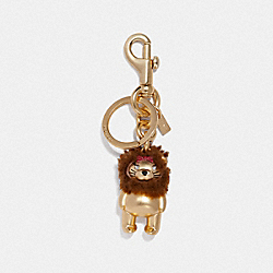 LION BEAR BAG CHARM - GOLD/GOLD - COACH F35249