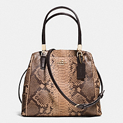 MINETTA CROSSBODY IN SNAKESKIN EMBOSSED LEATHER - f35271 - LIGHT GOLD/NATURAL