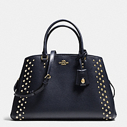 COACH MARGOT CARRYALL IN STUDDED CROSSGRAIN LEATHER - LIGHT GOLD/MIDNIGHT - F35274